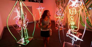 3d Neonscapes at the Spiva Art Center by Russ RuBert